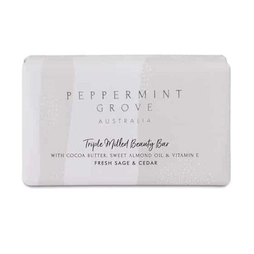 PEPPERMINT GROVE | Fresh Sage & Cedar Beauty Bar 200g