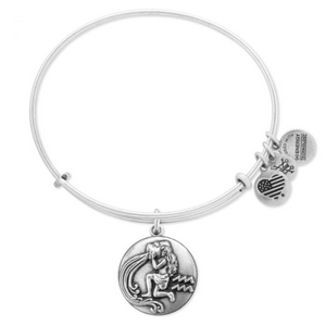 ALEX AND ANI | Zodiac - Aquarius Expandable Bracelet, Rafaelian Silver