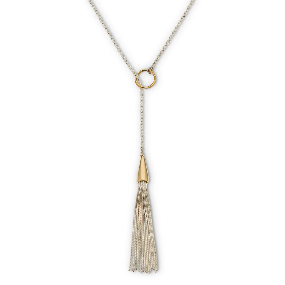 Mykonos Tassel Lariat Necklace