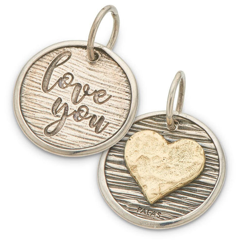 PALAS JEWELLERY | Heart & I Love You Charm (2 sided)