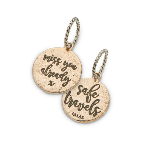 PALAS JEWELLERY | Safe Travels Miss You Charm (2 Sided)