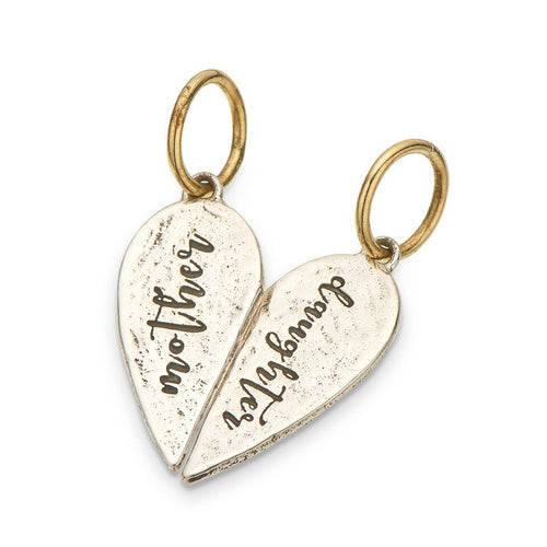 PALAS JEWELLERY | Mother Daughter Split Heart Charm