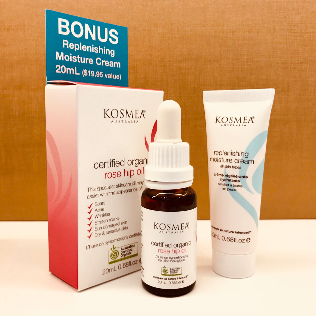 KOSMEA Rose hip oil/replenishing moisture  cream pack