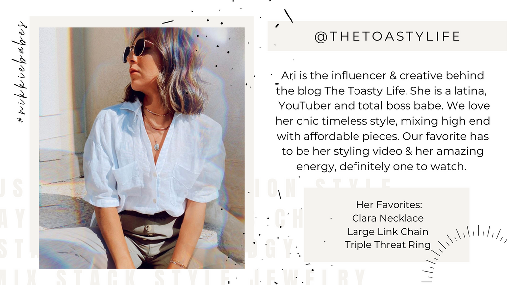 Influencers As Seen On The Toasty Life Jewelry Style Inspo