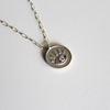 Evil Eye Coin Necklace silver layering necklace