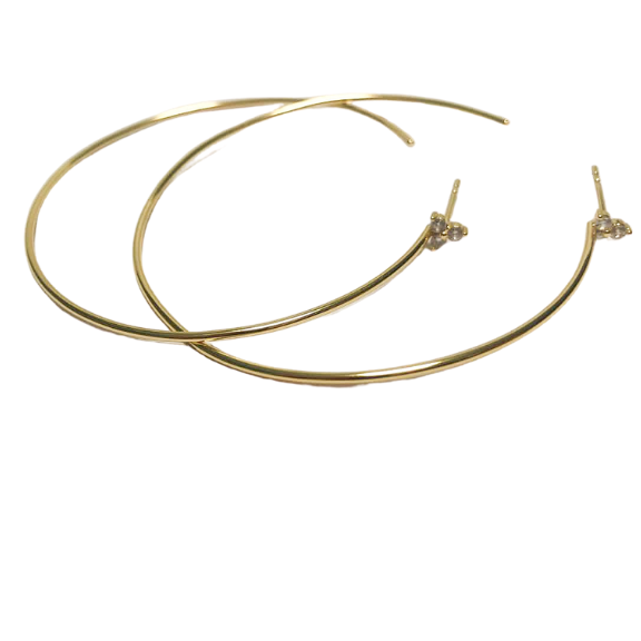 Callie Hoops Nikki E Designs lightweight gold wire hoops black friday sale tribe & co