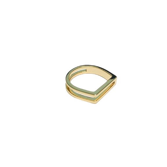 Mel Ring square statement edgy ring modular jewelry black friday sale tribe & co