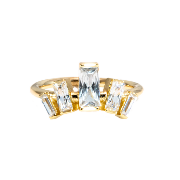 queen ring statement ring vermeil nikki e designs