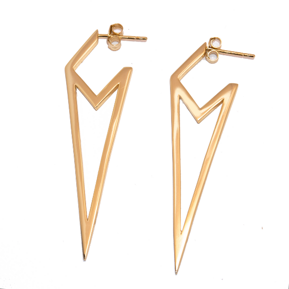 Mia Statement Earrings Nikki E Designs Gold hypoallergenic vermeil
