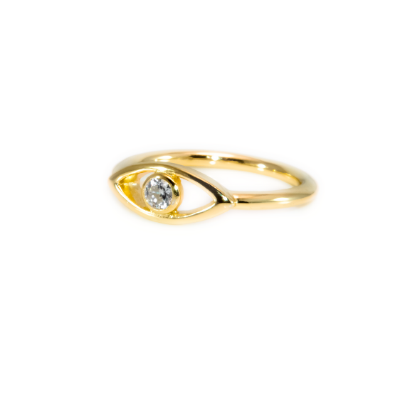 evil eye ring gold vermeil dainty ring