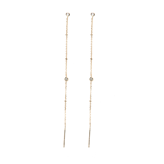 stardust threader earrings nikki e designs gold vermeil