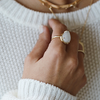 Moonstone ring statement ring cocktail ring stack