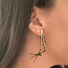 statement earring gold holiday looks ear party 18k gold vermeil