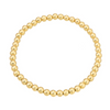 4 mm Gold beaded bracelet stack