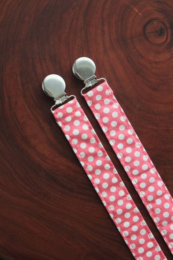 Hot Pink and White Polka Dots