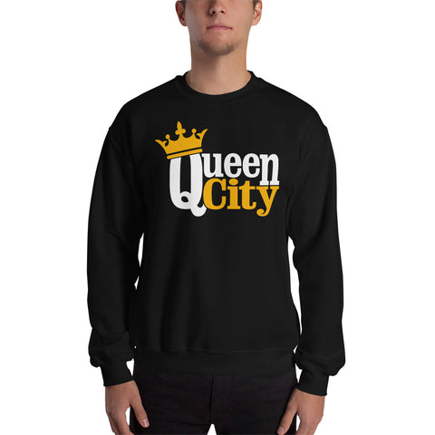 Queen City, NC Sweatshirt | 9thwaveapparel - 9thwaveapparel