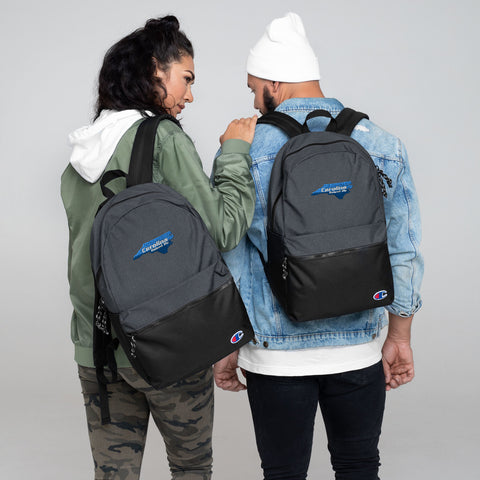 Carolina Raised Me Embroidered Champion Backpack | 9th Wave Apparel