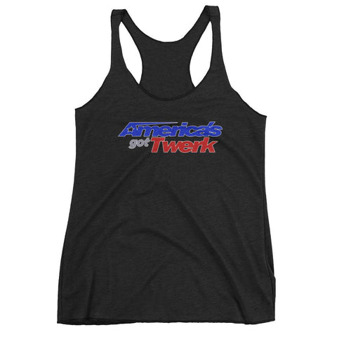America's Got Twerk Racer-back Tank Top | 9th Wave Apparel - 9thwaveapparel