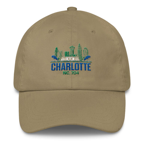 Charlotte, NC 704 Dad Hat | 9th Wave Apparel - 9thwaveapparel