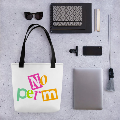 No Perm Tote Bag | 9th Wave Apparel - 9thwaveapparel