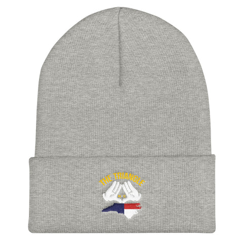 The Triangle, NC Cuffed Beanie | 9thwaveapparel - 9thwaveapparel