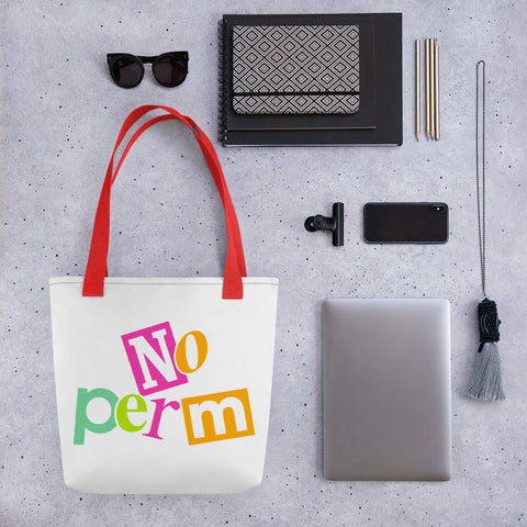 No Perm Tote Bag | 9th Wave Apparel