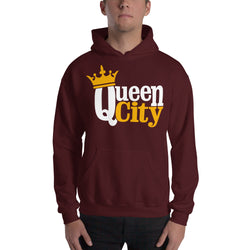Queen City, NC Hooded Sweatshirt | 9thwaveapparel - 9thwaveapparel