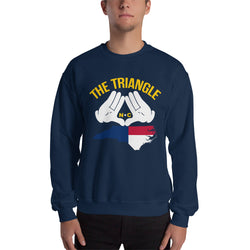 The Triangle, NC Sweatshirt | 9thwaveapparel - 9thwaveapparel