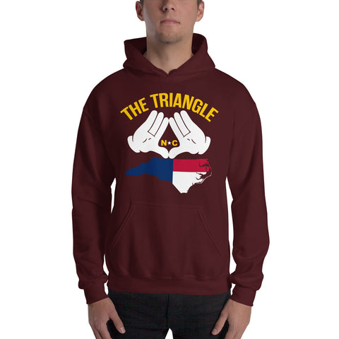 The Triangle, NC Hooded Sweatshirt | 9thwaveapparel - 9thwaveapparel