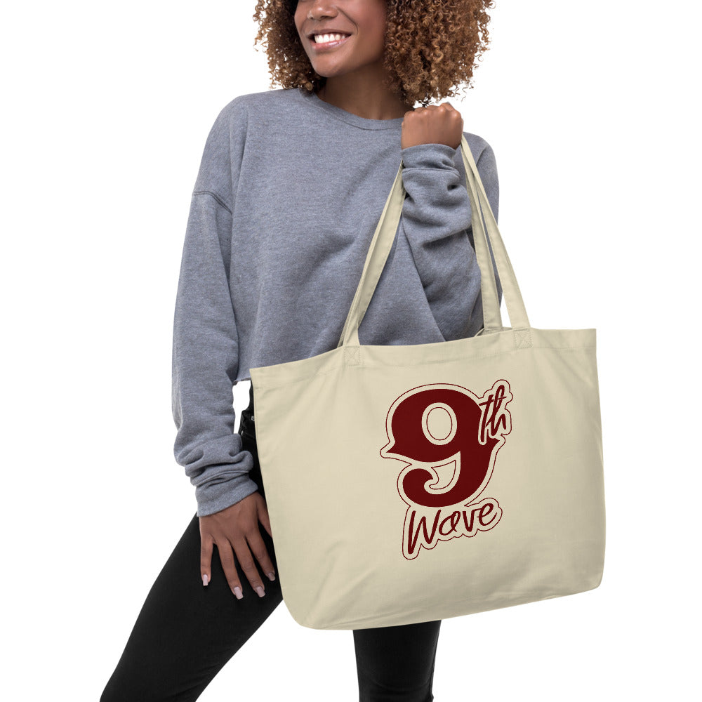 9th Wave Large organic tote bag | 9th Wave Apparel - 9thwaveapparel