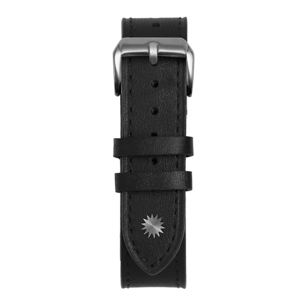 18' Black Leather Strap