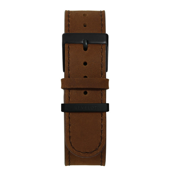 22' Brown Long Leather Strap - REVELOT