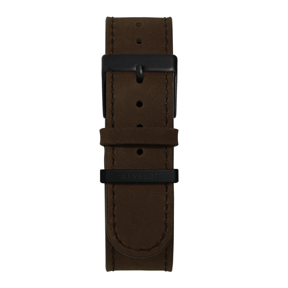 22' Dark Brown Suede Long Leather Strap - REVELOT