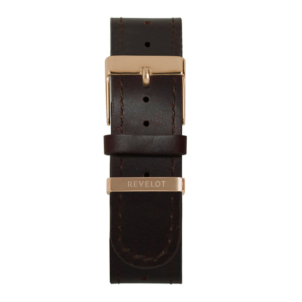 20' Congac Long Leather Strap - REVELOT