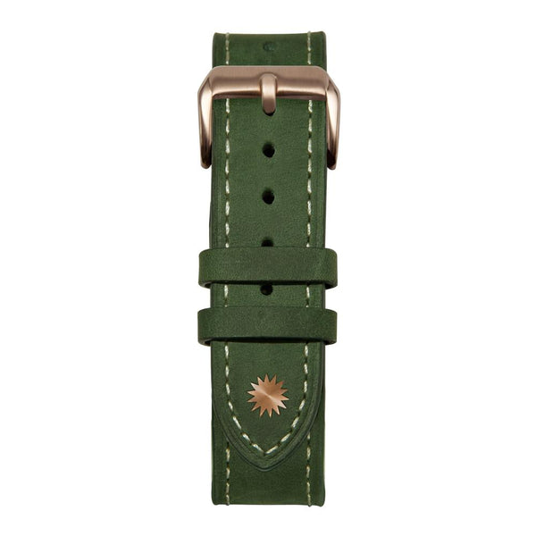 Green/White leather