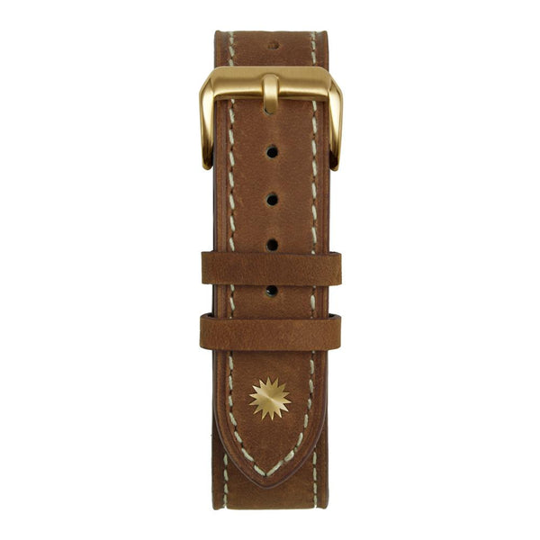 18' Brown and White Suede Leather Strap