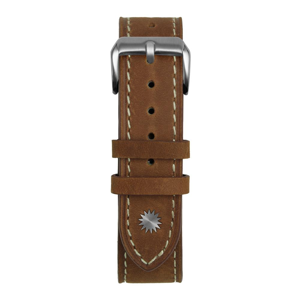 Brown and White Suede Leather Strap