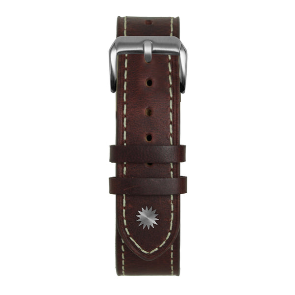 White & Cognac Leather Strap