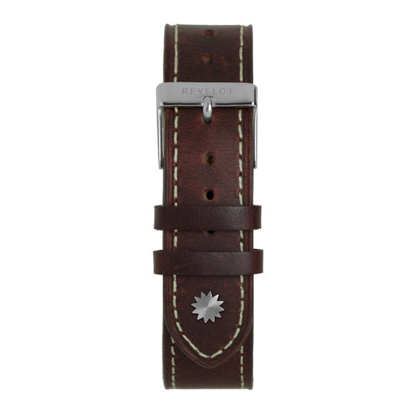 20' Cognac and White Leather Strap - REVELOT