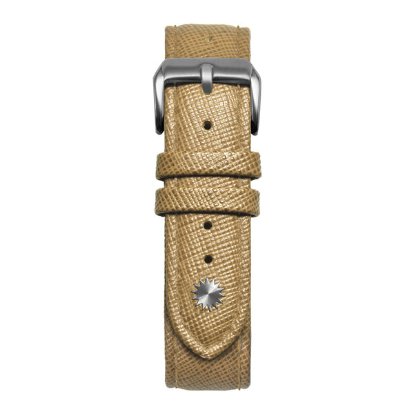 16' Beige Saffiano Leather Strap