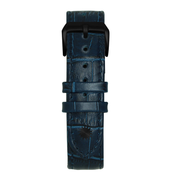22' Dark Blue Bamboo Leather Strap