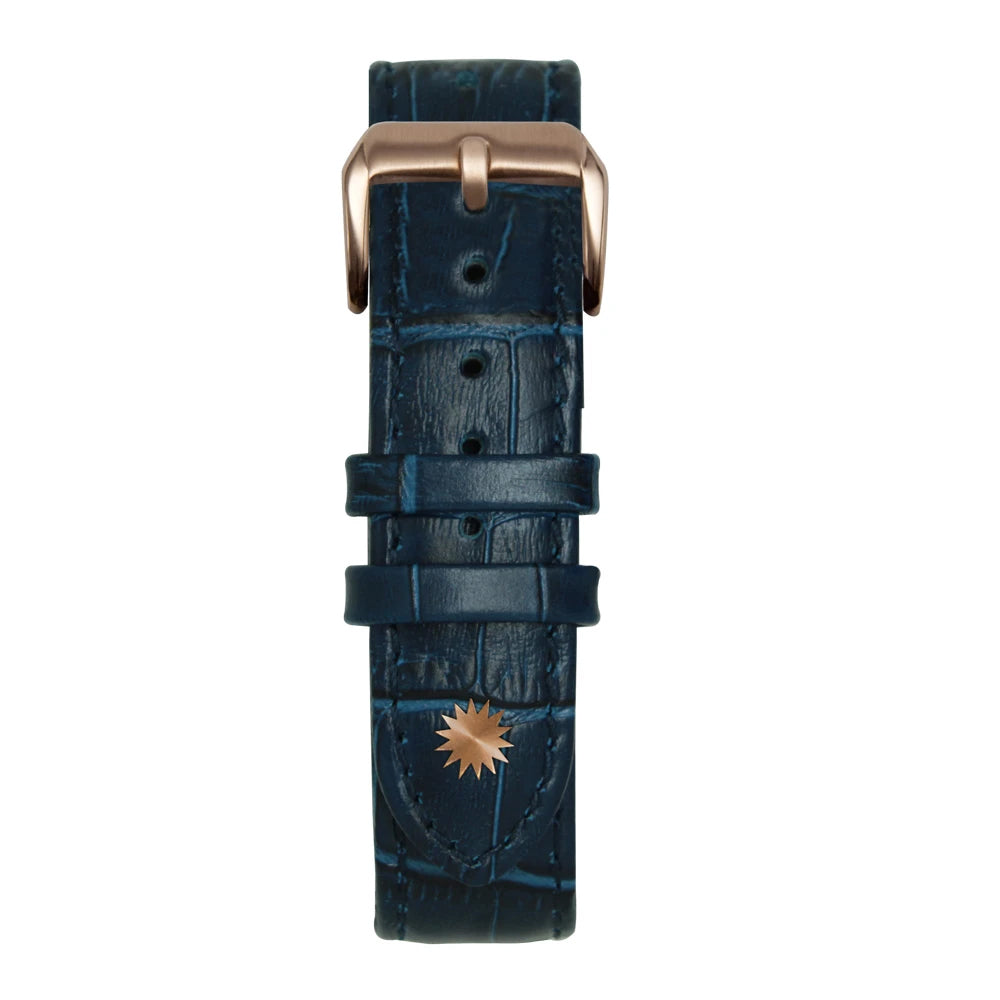 Blue bamboo leather