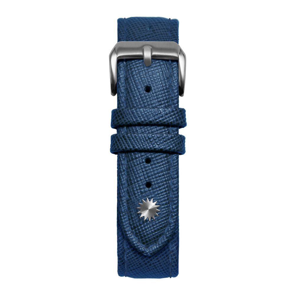 18' Blue Saffiano Leather Strap