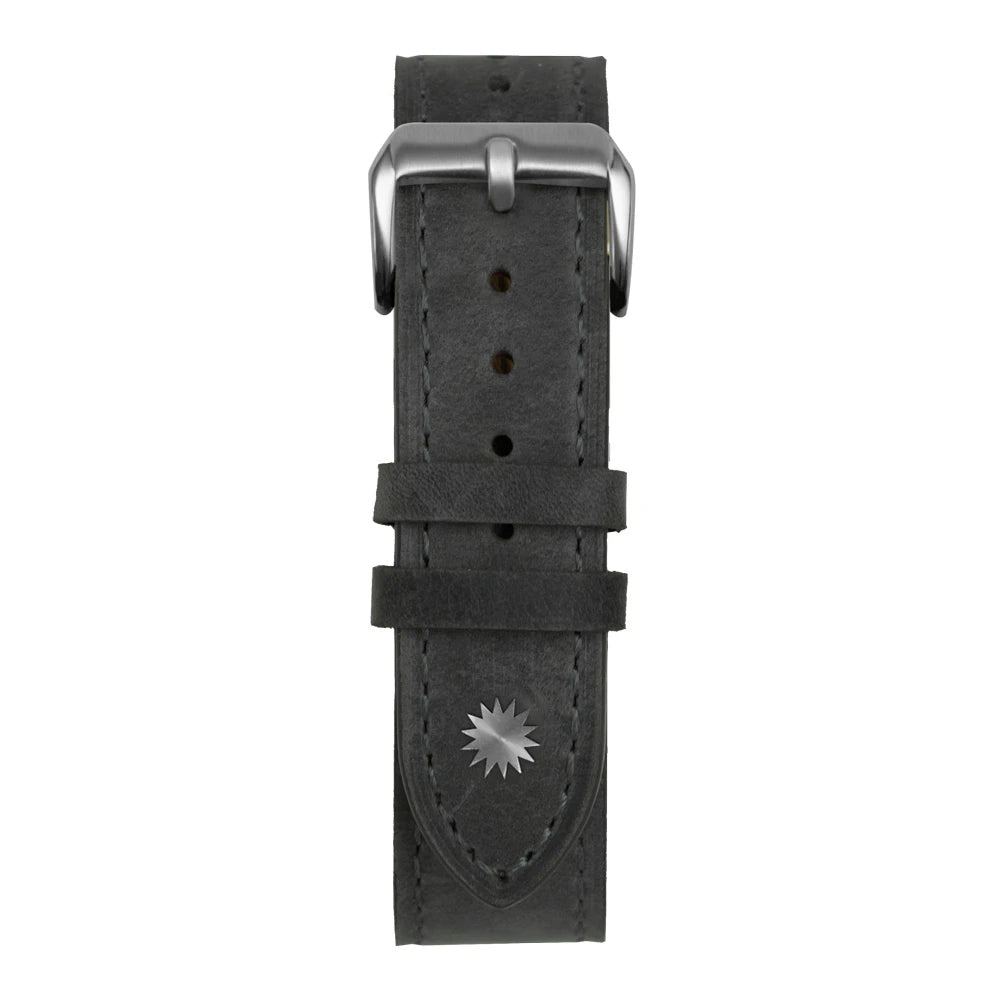 20mm Grey Suede Leather Strap