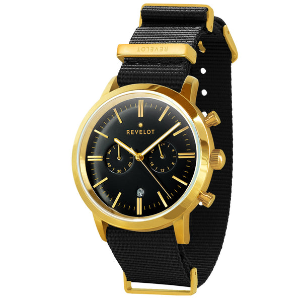43' Black/Gold Chronograph - REVELOT