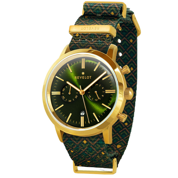 43' Green/Gold Chronograph - REVELOT