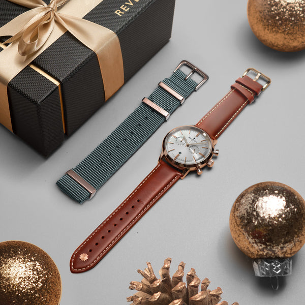 Bundle Men's Chrono & Grey Nato Strap