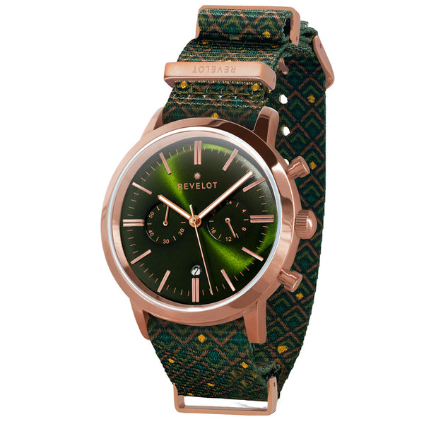 43' Green/Rose Gold Chronograph - REVELOT