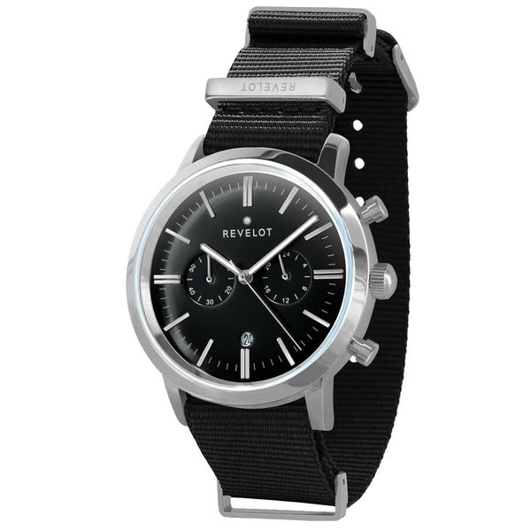 43' Black/Silver Chronograph - REVELOT