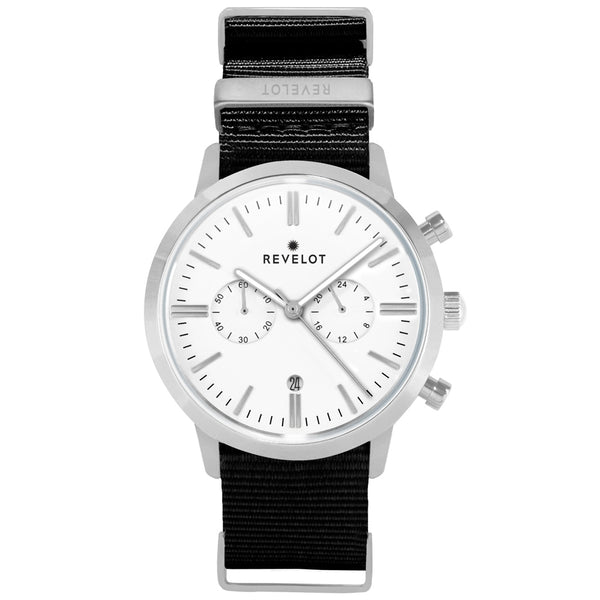 43' White/Silver Chronograph - REVELOT